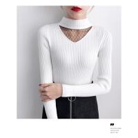 打底衫女式长袖秋冬百搭时尚毛衣潮短款紧身内搭针织衫半高领上衣