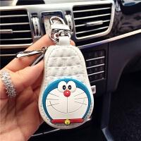 皮可爱卡通皮汽车钥匙包女士车钥匙套通用汽车钥匙保护套零钱包皮
