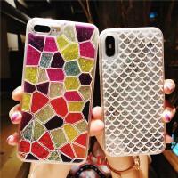 流沙苹果7/8plus手机壳iPhone6s硅胶套x女款潮7p全包防摔个性创意