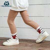 【119选4:29.8】迷你巴拉巴拉女童打底裤春装新款高弹保暖小童针织纯色长裤