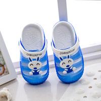 卡通可爱儿童拖鞋小童女夏季小孩包头凉拖鞋男童沙滩鞋洞洞鞋