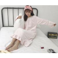 冬季睡裙女可爱法兰绒加厚睡衣韩版公主学生长款家居服甜美小清新