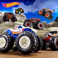 风火轮狂野大脚车系列男孩汽车赛车模型玩具怪兽卡车越野车