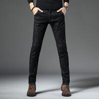 男士牛仔裤弹力款修身小脚裤韩版潮流黑色休闲长裤子男秋冬季