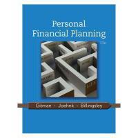 【预订】Personal Financial Planning