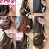 潮人个性耳圈耳环韩国简约百搭耳饰品吊坠耳坠长款气质圈圈耳钉女