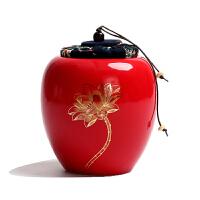 陶瓷茶叶罐小号迷你便携密封罐青瓷茶叶包装盒通用家用存储罐