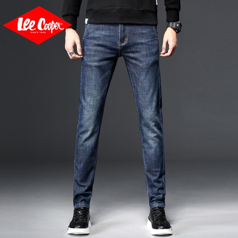 Lee Cooper英伦弹力直筒裤青年修身小脚裤新款韩版长裤牛仔裤男 英伦弹力直筒裤青年修身小脚裤