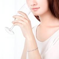 周大福 珠宝时尚优雅925银手链定价AB35097>>定价