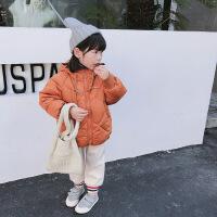 儿童冬装女童棉衣2018新款冬加厚连帽中小童短款棉袄羽绒外套