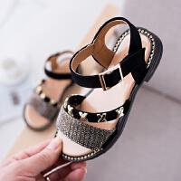 夏季新款儿童凉鞋童鞋露趾女童公主鞋子学生凉鞋