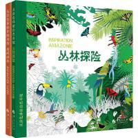 奇妙的涂色之旅:丛林探险+唐风日本(套装,共两册)
