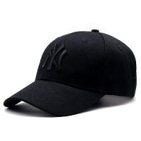 20180516172702668帽子男女韩版棒球帽潮休闲百搭鸭舌帽黑色简约嘻哈夏季防晒遮阳帽