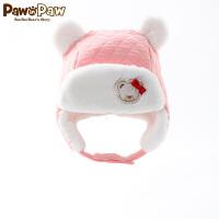 【2件2.5折 到手价:57】Pawinpaw宝英宝卡通小熊童装婴童冬季新款加绒男女宝宝帽子