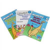 英文原版绘本 i can read 一阶段 danny and the dinosaur恐龙系列3本汪培�E 一阶段男孩