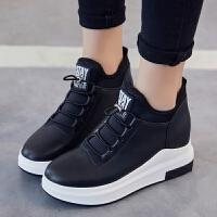 2018内增高女鞋平底春季新款韩版运动鞋百搭小白鞋女休闲鞋单鞋