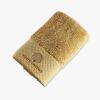 贝赛亚 进口埃及长绒棉钻石缎边 绣花面巾 中驼色 35x75