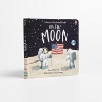 【全店300减100】进口英文原版绘本在月球上On the Moon Benji Davies低幼启蒙图画书精装