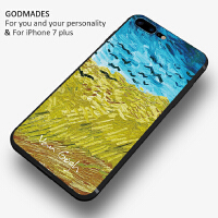 油画艺术苹果7plus手机壳6splus个性创意潮男女款iphone6硅胶防摔
