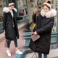 孕妇棉衣棉袄女中长款过膝韩版18冬季新款孕妇羽绒厚外套宽松