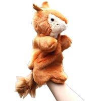 毛绒公仔礼物送女生 手指娃娃小动物玩偶 小松鼠手偶玩具毛绒动物大号指偶卡通布绒手套玩偶讲故事 松鼠