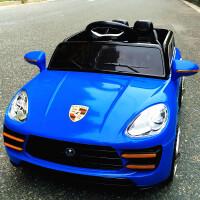 创意新款新款儿童电动车四轮双驱摇摆遥控汽车可坐宝宝小孩玩具童车 顶配 蓝色2.4G双驱+独立摇摆