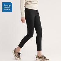 [秒杀价:89元,年货节限时抢购,仅限1.15-19]真维斯女装 2019冬装新款 时尚净色休闲长裤