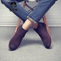 米乐猴 潮牌潮男士马丁靴男高帮鞋韩版青年英伦磨砂皮短靴子秋冬季男鞋