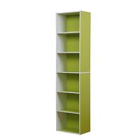 [当当自营]慧乐家 书柜书架 鲁比克L40六层组合柜子 层架储物柜收纳柜置物柜 绿白色 11306-2