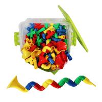 喇叭积木塑料拼插儿童拼装宝宝益智玩具桌面玩具
