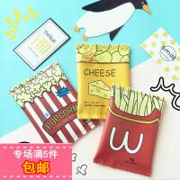 韩国ulzzang原宿可爱童趣薯条手拿包趣味零食硬币零钱包小包
