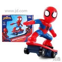 【新品】抖音同款热门玩具蜘蛛侠儿童遥控特技滑板车男孩生日礼物 送运费险 1电畅玩40分钟【大容量充电电池组+充电线 】