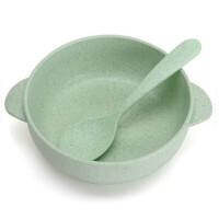 小麦秸秆宝宝饭碗零食碗儿童碗筷套装餐具宝宝吃饭勺塑料小碗卡通