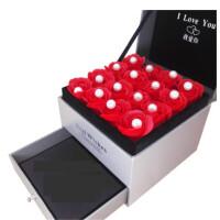 创意礼品s925纯银耳钉女长款流苏一周耳钉耳环气质超仙耳坠饰品礼物 自由选】浪漫玫瑰礼盒