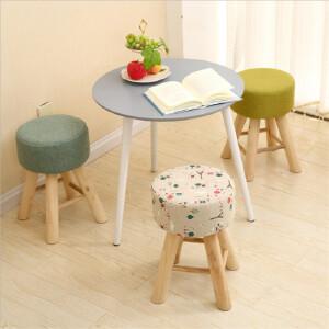 门扉 凳子 创意实木换鞋凳圆凳时尚梳妆板凳餐桌凳布艺沙发凳高凳