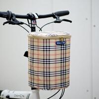 儿童车滑板电动自行车篮子折叠车前车筐山地车车筐 加厚帆布前筐