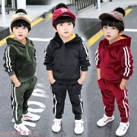 冬季4男童装1秋冬装2男宝宝加绒加厚卫衣套装3儿童韩版衣服5小男孩6岁秋冬新款