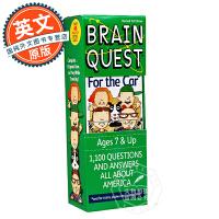 Brain Quest For the Car  少儿智力开发系列:关于汽车【英文原版童书 7岁以上、益智启蒙、卡片版】