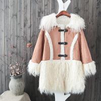 冬季女装新款加厚麂皮绒外套女皮毛一体羊羔绒内胆风衣韩版中长款