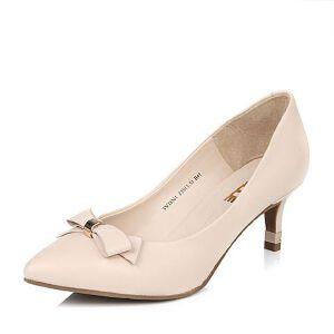 Belle/百丽春季专柜同款优雅女人绵羊皮女单鞋3VDN1AQ6