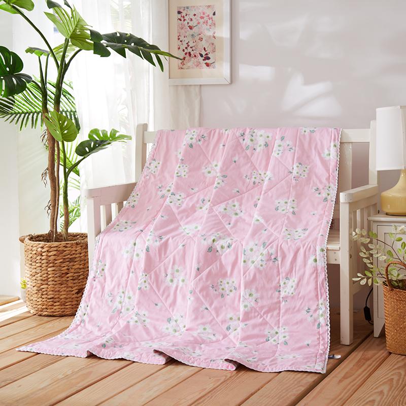 当当优品家纺 新疆棉花夏凉被 可水洗空调被 千雅(粉)150*200