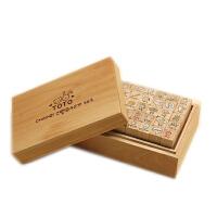 韩国文具 toto 可爱兔兔猫咪木盒印章(40枚组)2 复古 精致木盒+印章 28个字母印章套装 童话王国 大树下的女