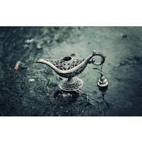 阿拉丁神灯道具出口俄罗斯复古神话道具 阿拉丁的神灯模型 锡制