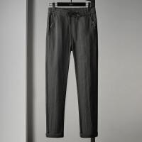 Lee Cooper 新款男士休闲裤直筒长裤子百搭韩版潮流个性舒适系绳男裤