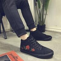 DAZED CONFUSED 潮牌男鞋冬季棉鞋男士保暖加绒老北京布鞋高帮二棉鞋男休闲鞋