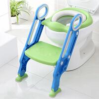 儿童马桶坐便器宝宝厕所梯椅小孩坐垫圈男女孩楼梯式可折叠防滑架