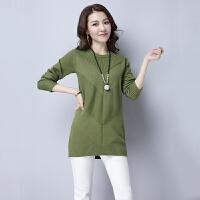 秋冬季韩版新款小个子中款毛衣女套头羊毛衫针织打底衫上衣服 X