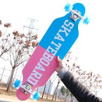 儿童男女生代步刷街四轮滑板车公路滑板平板初学者青少年
