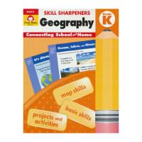 Evan-Moor Skill Sharpeners Geography Grade K 美国加州教辅 幼儿英语启蒙教