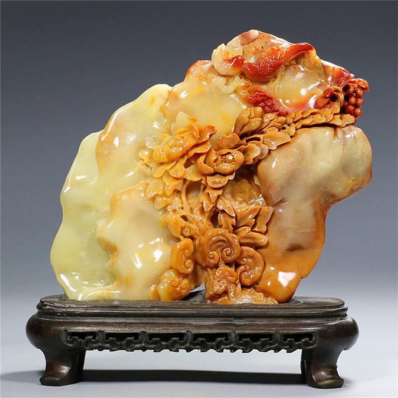 寿山芙蓉石摆件  花开富贵(1604762)